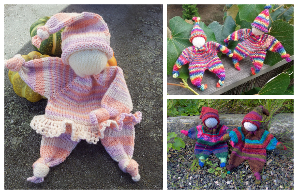 Knit Amigurumi Doll Lovey Blanket Free Knitting Pattern