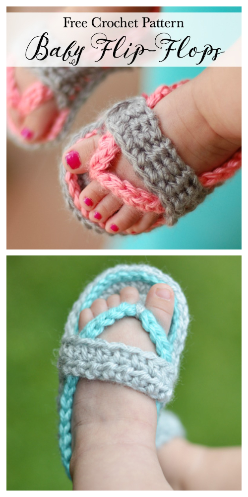 Baby Strap Flip-Flops Free Crochet Patterns & Paid + Video