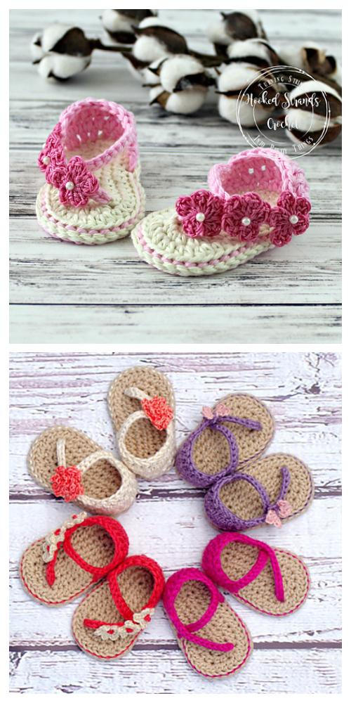 Baby Strap Flip FlopSandalsCrochet Pattern