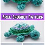 Crochet African Flower Turtle Amigurumi Free Crochet Pattern