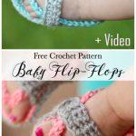 Crochet Baby Strap Flip-Flops Free Crochet Pattern