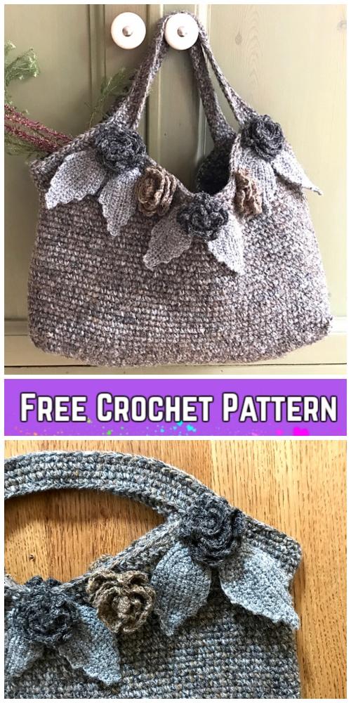 Crochet Flower Bag Free Crochet Pattern