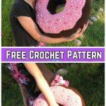 Crochet Giant Donut Pillow Free Crochet Pattern