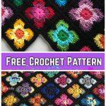 Crochet Retro Vibe Square Free Crochet Pattern