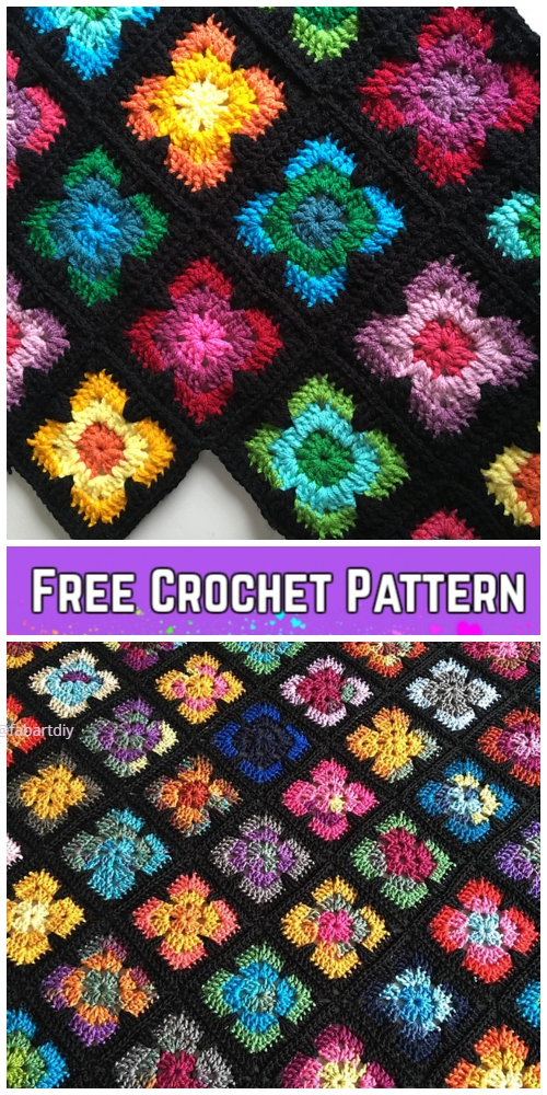 Crochet Retro Vibe Square Free Crochet Pattern