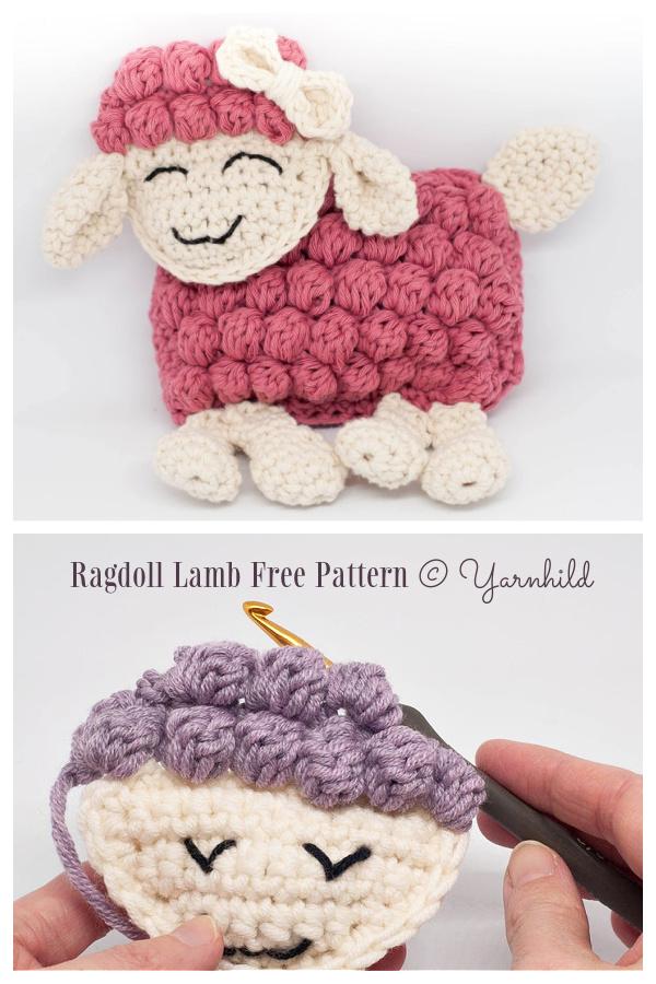 Crochet Bobble Ragdoll Lamb Amigurumi Free Patterns