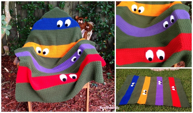 Crochet Teenage Mutant Ninja Turtle Blanket Free Crochet Pattern