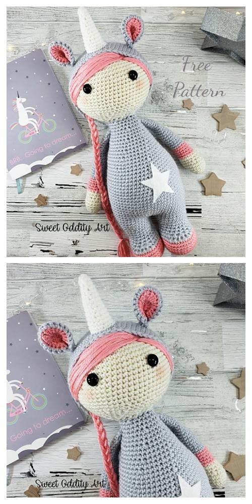 Crochet Unicorn Girl Doll Amigurumi Free Patterns