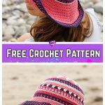 Crochet Vintage Summer Sun Hat Free Crochet Patterns for Ladies