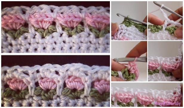 Crochet Window Flower Stitch Free Crochet Pattern-Video Tutorial