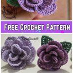 Crochet Wired 3D Rose Bouquet Free Crochet Pattern - Video Tutorial