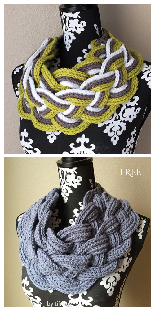 Double Layered Braided Cowl Free Crochet Pattern-Video