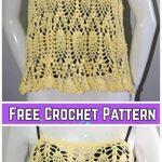 Pineapple SummerMarie Beach TopCrochet Pattern