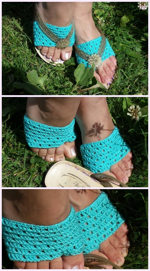Flip Flop Socks Crochet Pattern