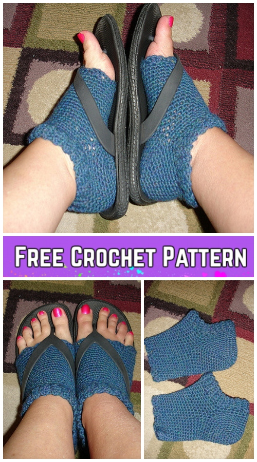 Flip Flop Pedicure Socks Crochet Pattern Free