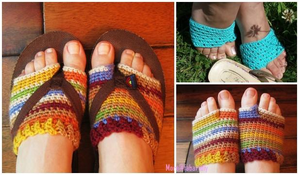 Rainbow Flip Flo p Socklets Crochet Pattern Free