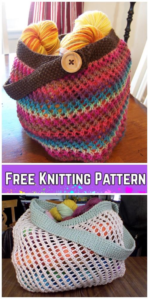 Knit Grrlfriend Market Bag Free Knitting Pattern