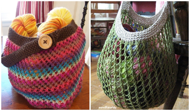 Knit Grrlfriend Market Bag Free Knitting Pattern