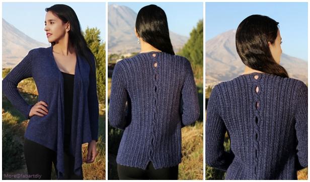 Knit Lupe Cardigan Knitting Free Pattern for Ladies