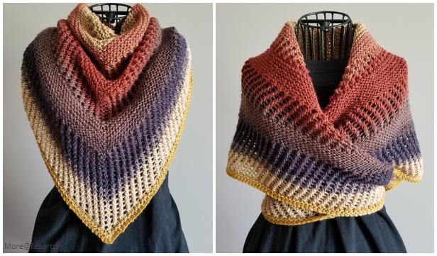 Knit Reyna Shawl Free Knitting Pattern