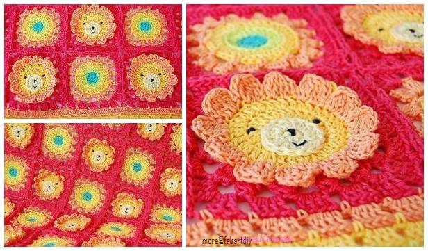 Lion Animal Baby Blanket Crochet Pattern