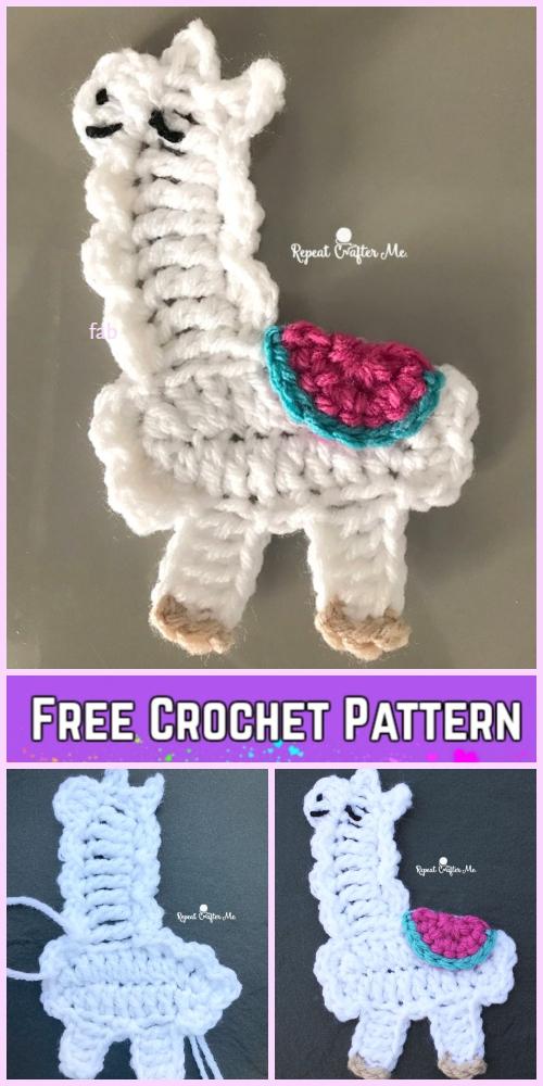 Llama Applique Crochet Patterns Free