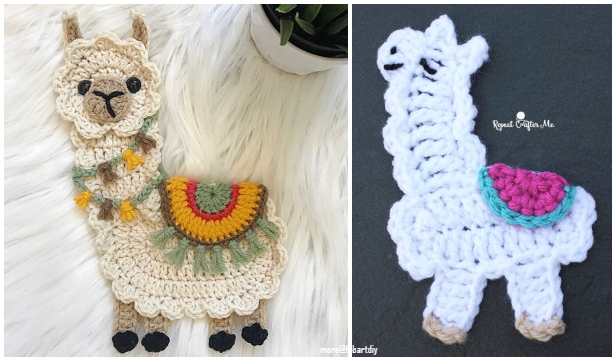 llama applique crochet patterns free amp paid