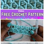 Tunisian Crochet Smock Stitch Free Crochet Pattern - Video