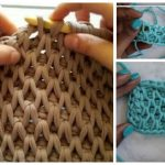 Tunisian Crochet Smock Stitch Free Crochet Pattern - Video