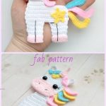 Crochet Unicorn Applique Crochet Pattern