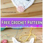 Heart Shaped Crochet Unicorn Applique Free Crochet Pattern