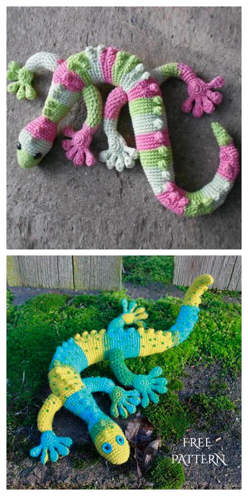 Crochet Toy Gecko Lizard Amigurumi Free Pattern