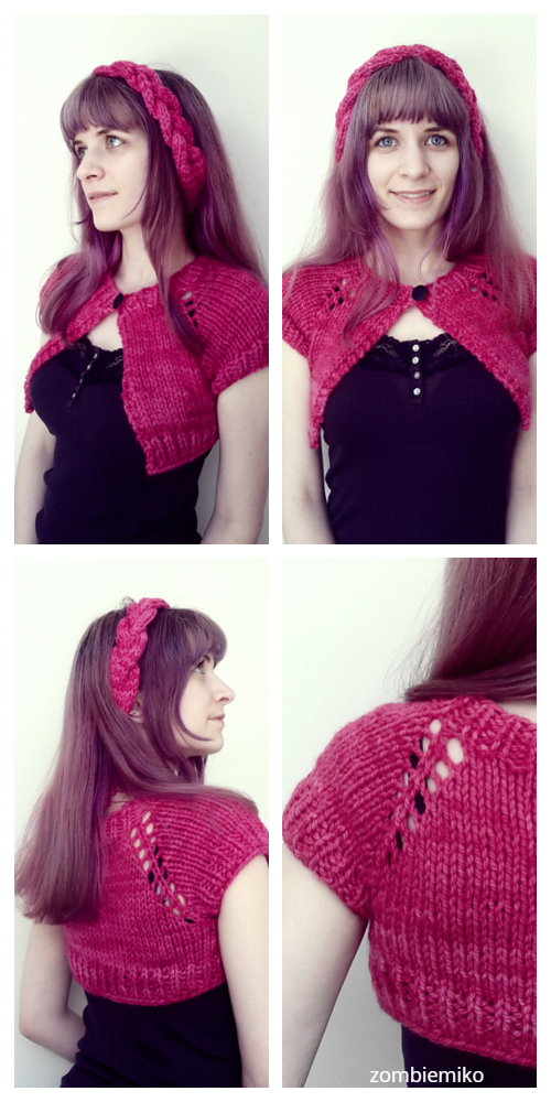 Knit Anthropologie-Inspired Capelet Free Knitting Pattern for Ladies