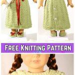 Knit Doll Baby Nightgown Sleepover Dress Free Knitting Pattern