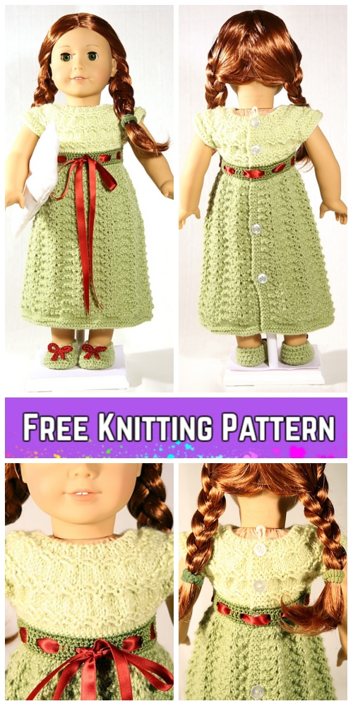 Knit Doll Baby Nightgown Sleepover Dress Free Knitting Pattern
