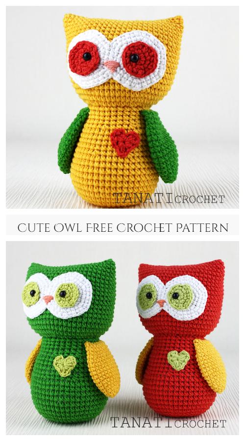 Cute Valentine Heart Owl Free Crochet Patterns