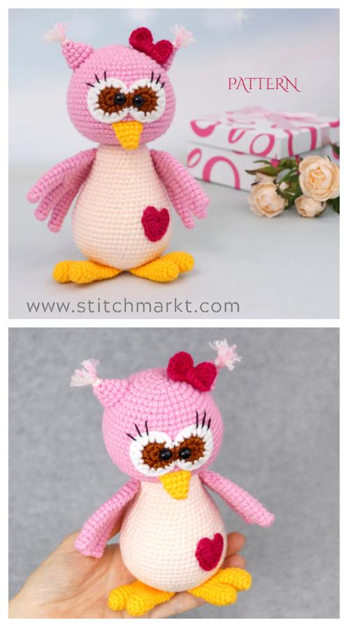 Valentine Owl Crochet Patterns