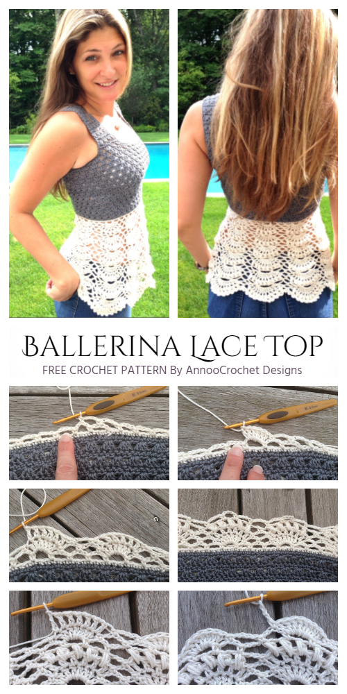 Crochet Ballerina Lace Top Free Crochet Pattern for Ladies