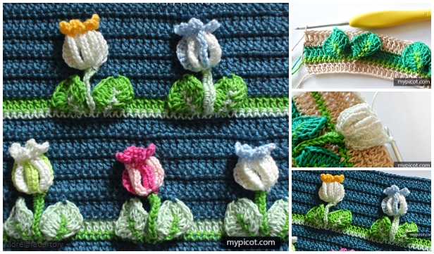 3D Crochet Full Tulip Stitch Free Crochet Pattern