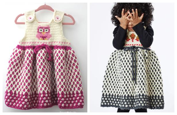Crochet Garden Lattice Jumper Dress Free Crochet Pattern