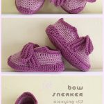 Crochet Baby Bow Sneakers Crochet Pattern