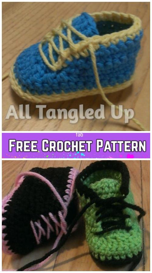 Crochet Baby Sneakers Free Crochet Pattern