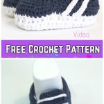 Crochet Baby Sneakers Free Crochet Pattern and Video tutorial