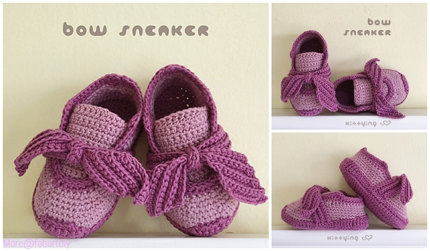 Crochet Baby Sneakers Free Pattern & Paid - Video