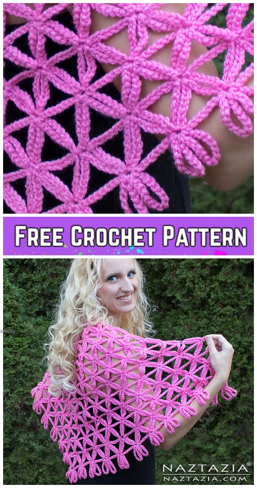 Crochet Flower of Life Chain Shawl Free Crochet Pattern - Video