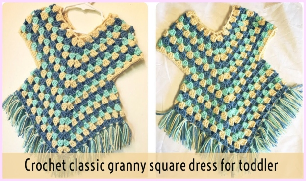 Crochet Granny Stitch Poncho Free Crochet Patterns Video