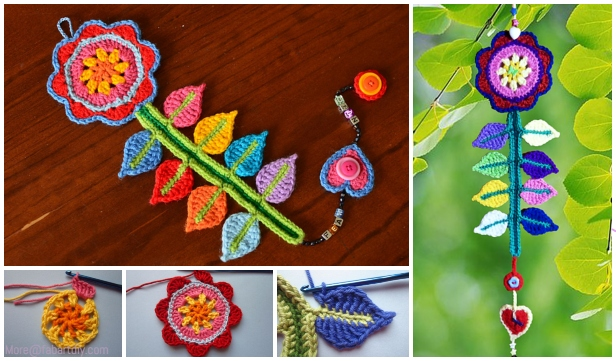 Crochet Happy Flower Wall Decoration Free Crochet Pattern