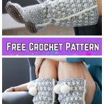 Crochet Women Sierra Slouchy Slippers Free Crochet Pattern