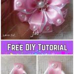 Fabulous DIY Ribbon Flower with Beads Tutorial