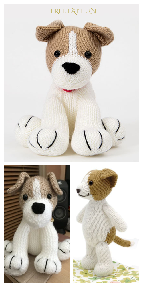 Knit Amigurumi Dog Toy Sofites Free Knitting Patterns - Free Jack Russell toy pattern